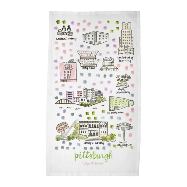 Pittsburgh, PA Tea Towel