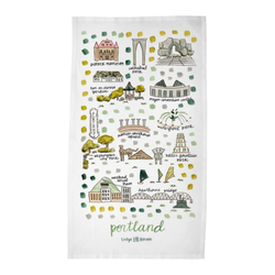 Portland, OR Tea Towel