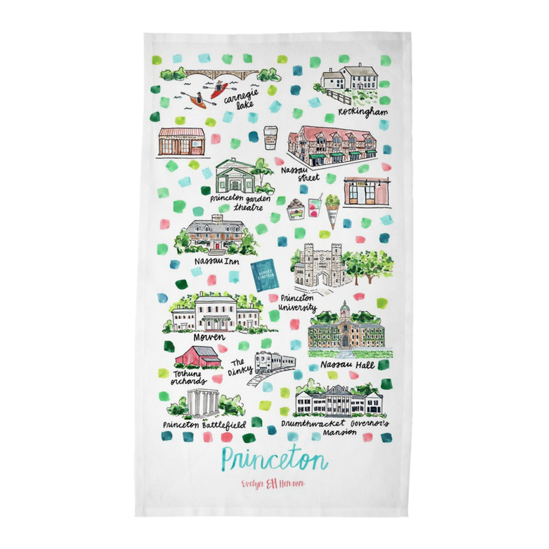 Princeton, NJ Tea Towel