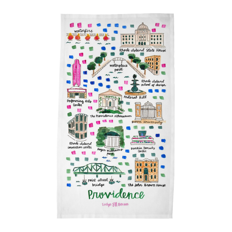 Providence, RI Tea Towel