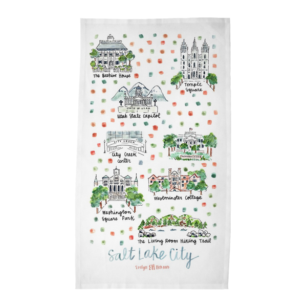 Salt Lake City, UT Tea Towel