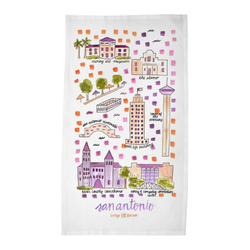 San Antonio, TX Tea Towel