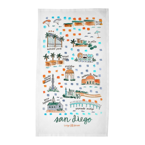 San Diego, CA Tea Towel