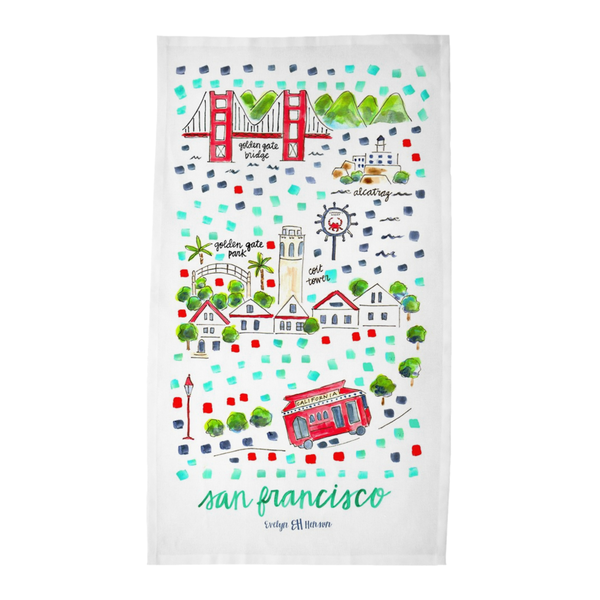 San Francisco, CA Tea Towel
