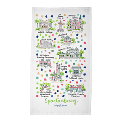 Spartanburg, SC Tea Towel