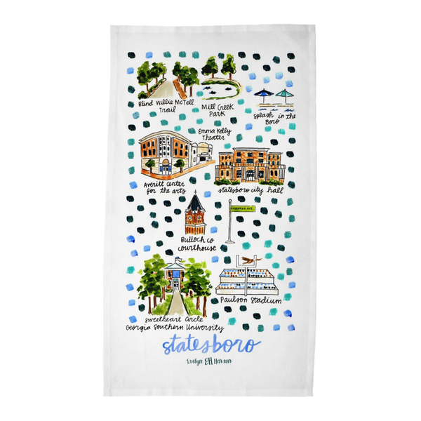 Statesboro, GA Tea Towel