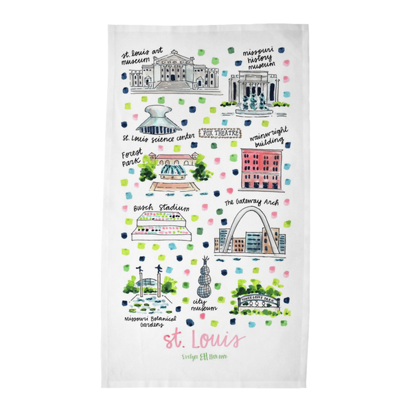 St. Louis, MO Tea Towel