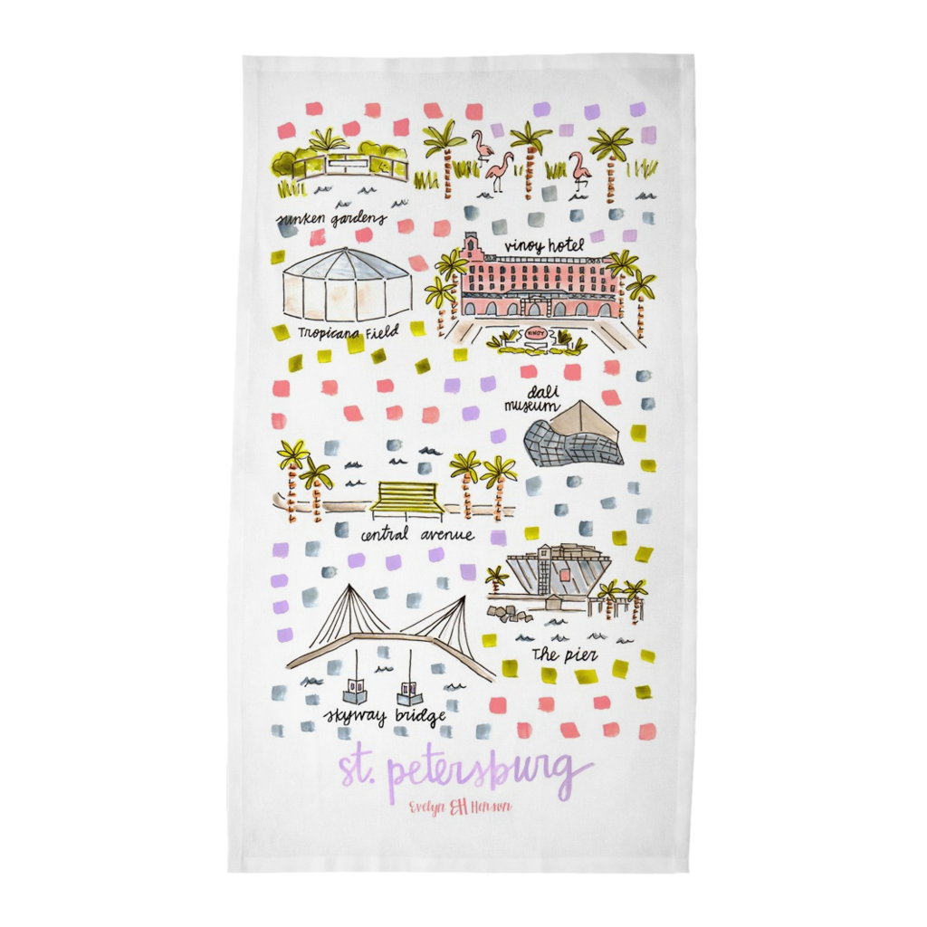 St. Petersburg, FL Tea Towel