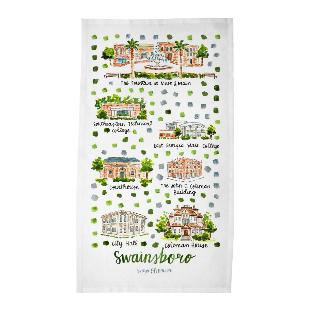 Swainsboro, GA Tea Towel