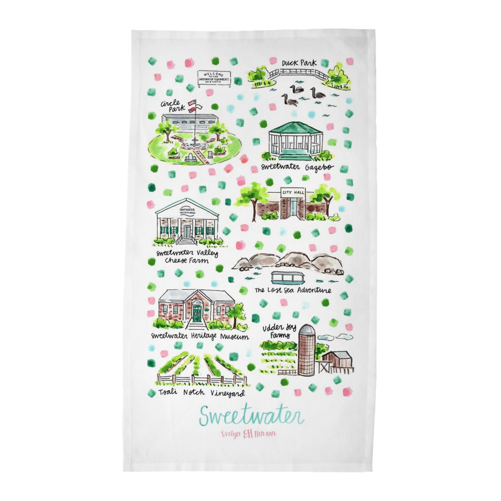 Sweetwater, TN Tea Towel