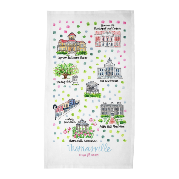 Thomasville, GA Tea Towel