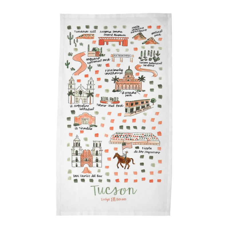 Tucscon, AZ Tea Towel