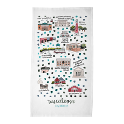 Tuscaloosa, AL Tea Towel