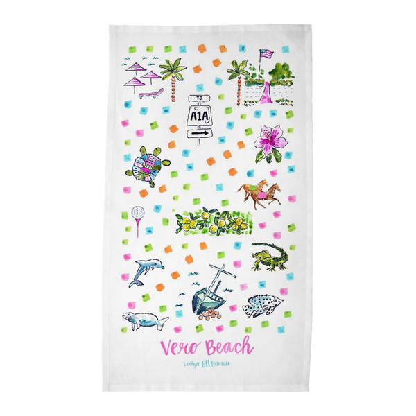 Vero Beach, FL Tea Towel