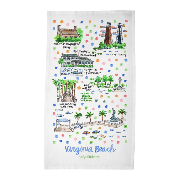 Virginia Beach, VA Tea Towel