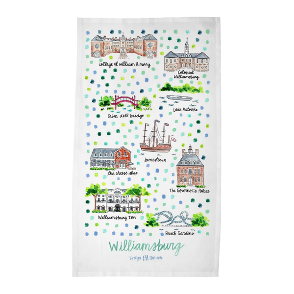 Williamsburg, VA Tea Towel