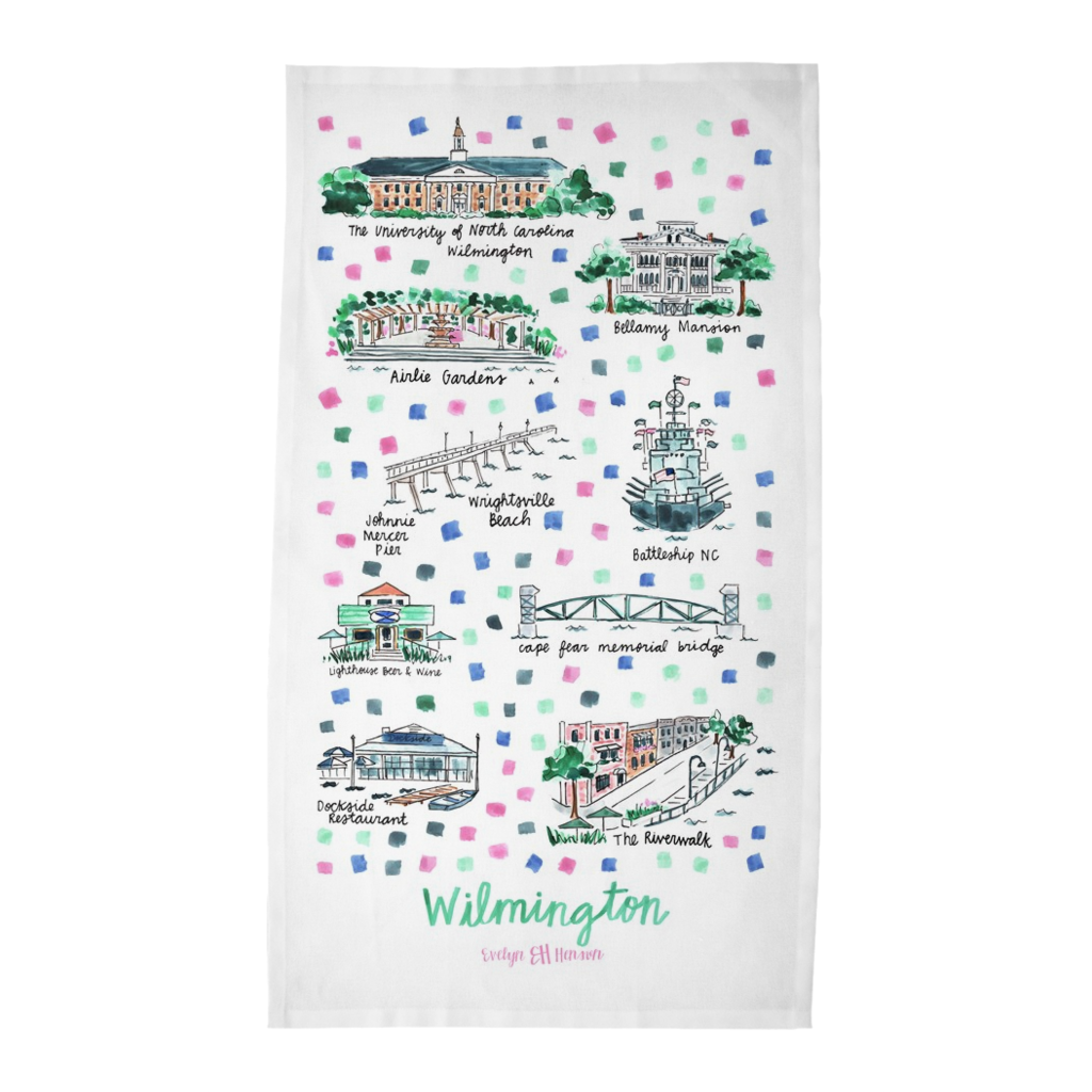 Wilmington, NC Tea Towel
