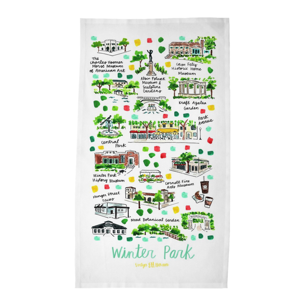 Winter Park, FL Tea Towel