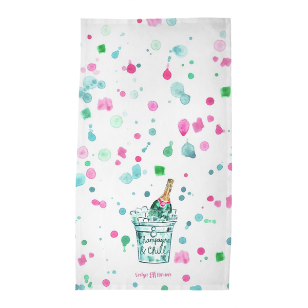 Champagne & Chill Tea Towel