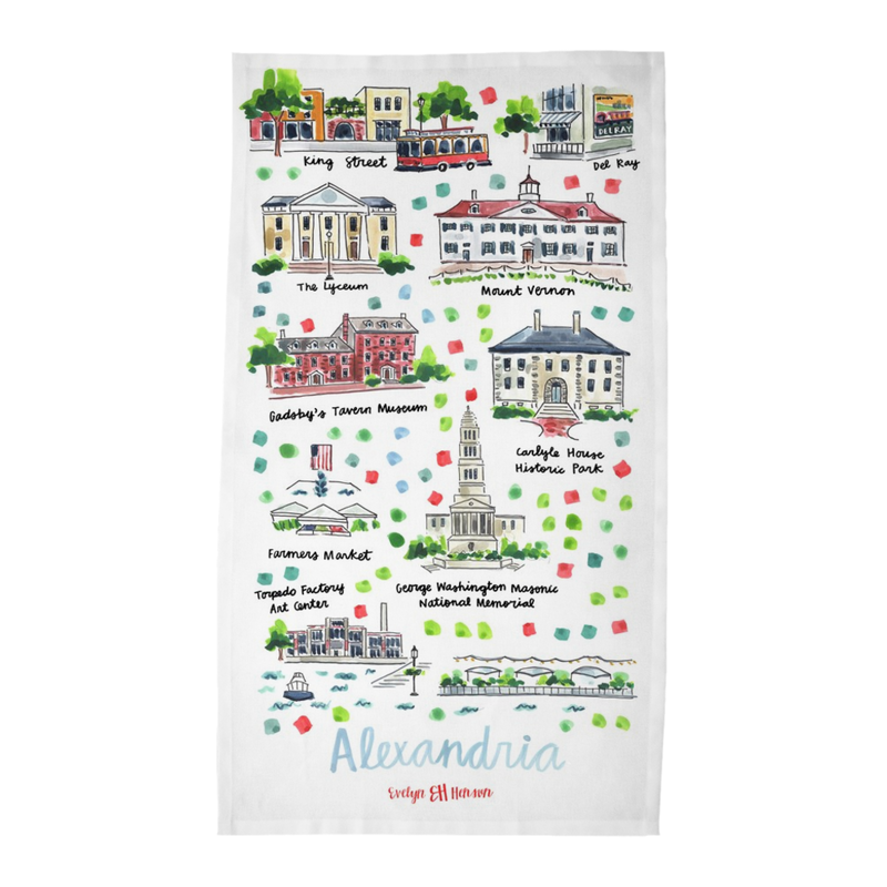 Alexandria, VA Tea Towel