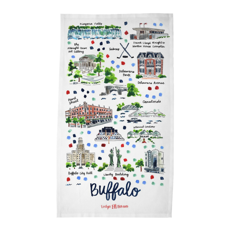 Buffalo, NY Tea Towel