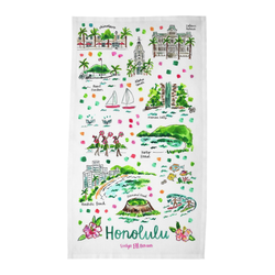 Honolulu, HI Tea Towel