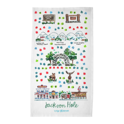 Jackson Hole, WY Tea Towel