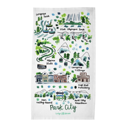 Park City, UT Tea Towel