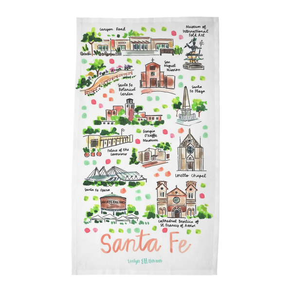 Santa Fe, NM Tea Towel