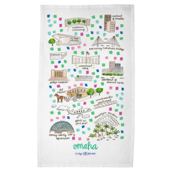 Omaha, NE Tea Towel