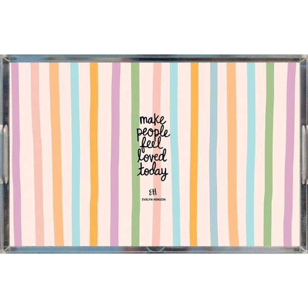 Confetti Stripes Tray