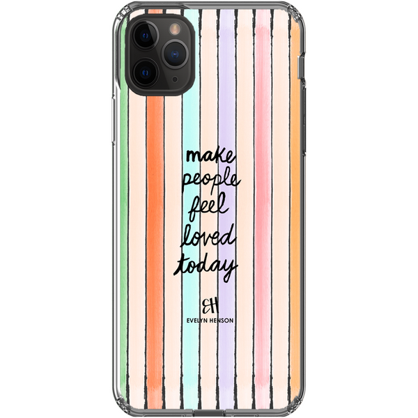 Confetti Stripe Print Phone Case