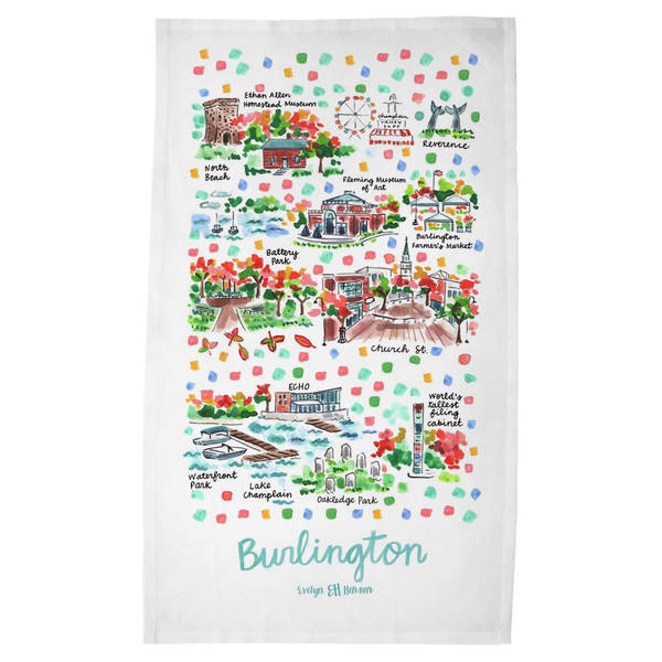 Burlington, VT Tea Towel