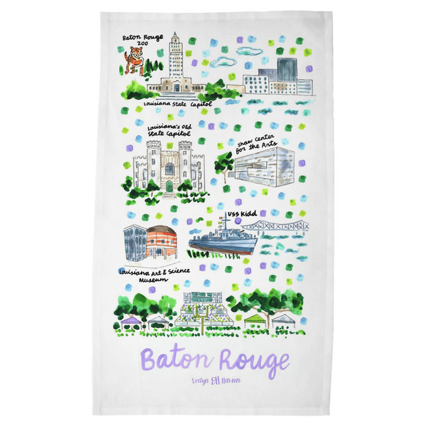 Baton Rouge, LA Tea Towel