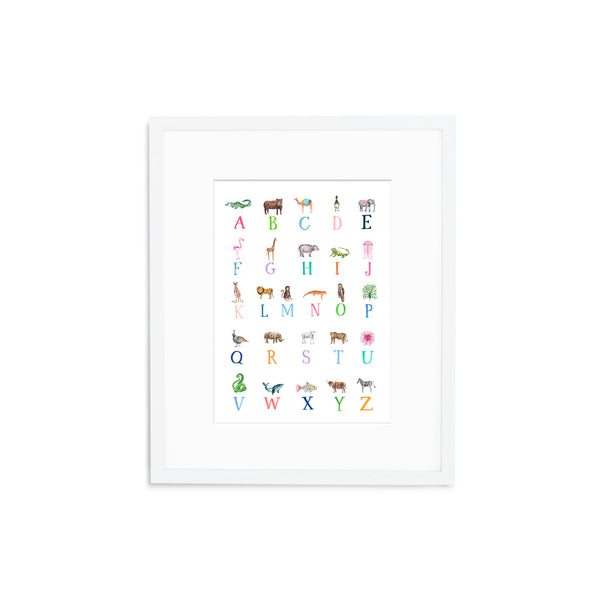 "The ""ABC Animals"" Fine Art Print"