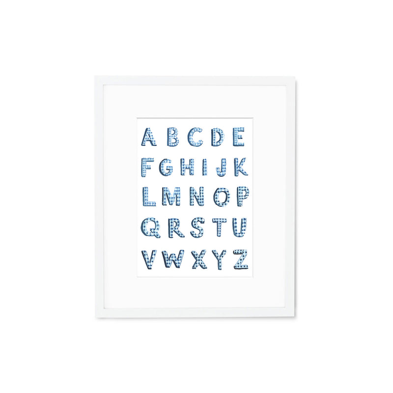 "The ""Gingham Alphabet"" Fine Art Print"