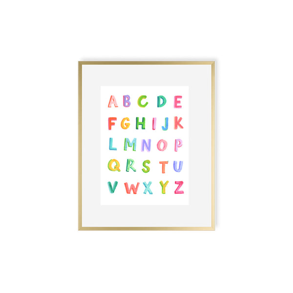 "The ""ABC Brights"" Fine Art Print"