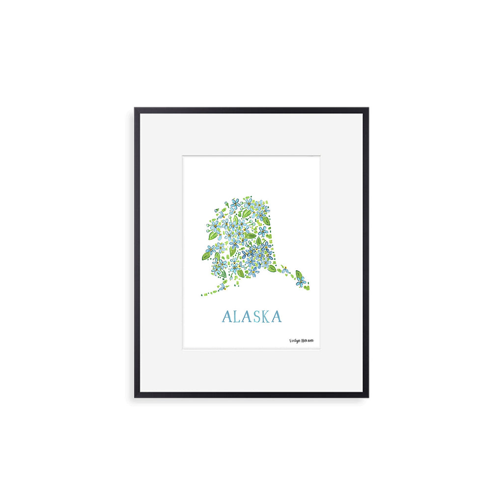Alaska Forget-me-not Flower Print