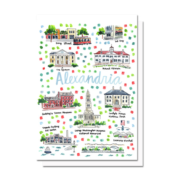 Alexandria, VA Map Card
