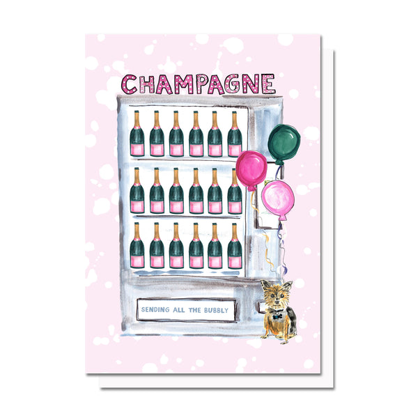 All The Champagne Card