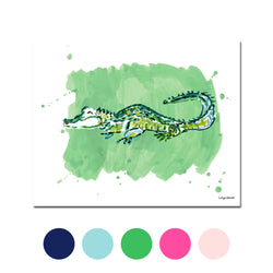 The Alligator, Fine Art Print (Additional Colors Available)