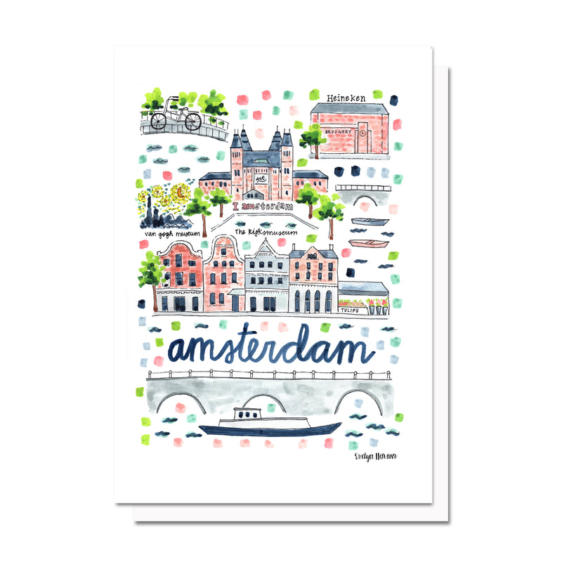 Amsterdam Map Card