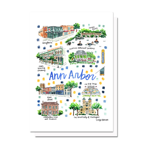 Ann Arbor, MI Map Card