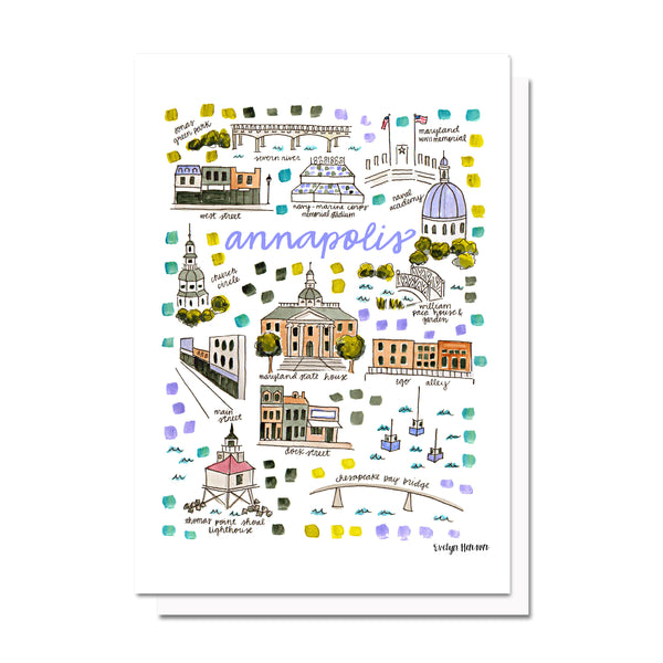 Annapolis, MD Map Card