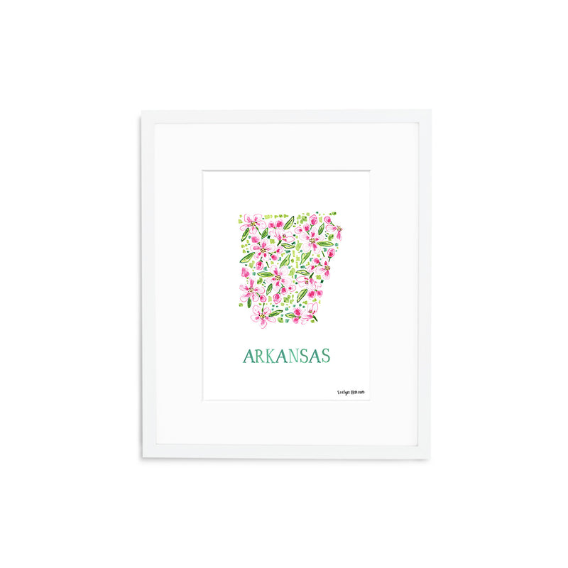 Arkansas Apple Blossom Flower Print