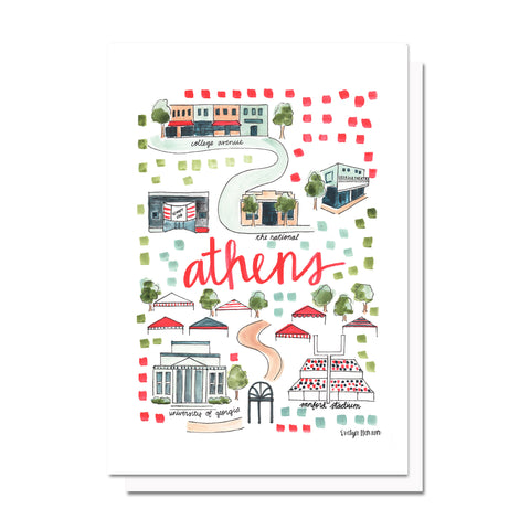 Athens, GA Map Card