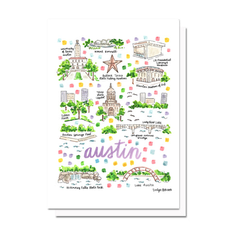 Austin, TX Map Card