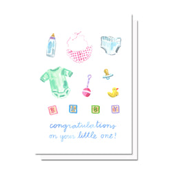 Congratulations on Your Little One Card