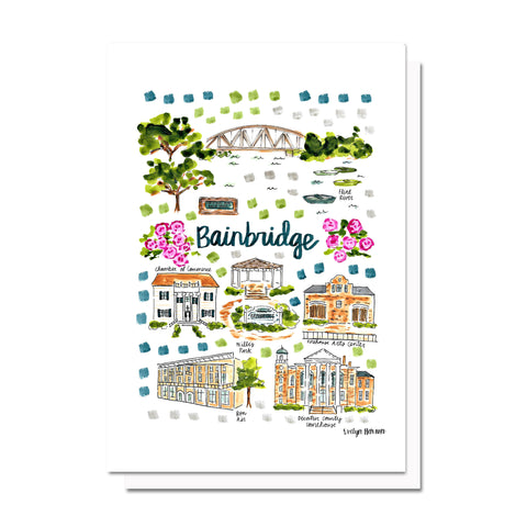 Bainbridge, GA Map Card