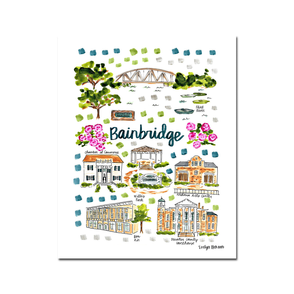 """Bainbridge, GA"" Fine Art Print"